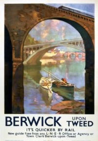 Berwick upon Tweed, Northumberland. LNER Vintage Travel Poster by Van Jones. 1941